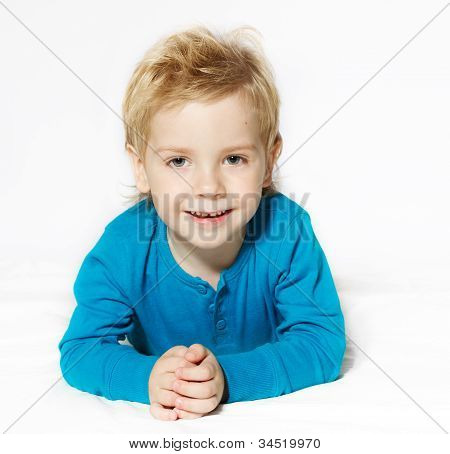 Smiling Child Lying Down