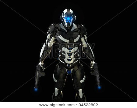 Futuristic soldier