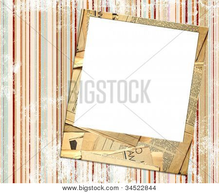 Grunge background with old photos