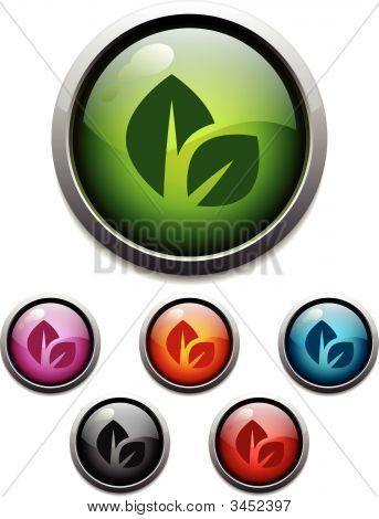 Leaf Glossy Icons