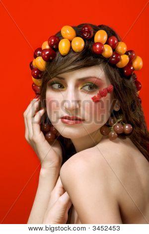 Fruit Beauty Woman Portrait - Vegetarian Ideal