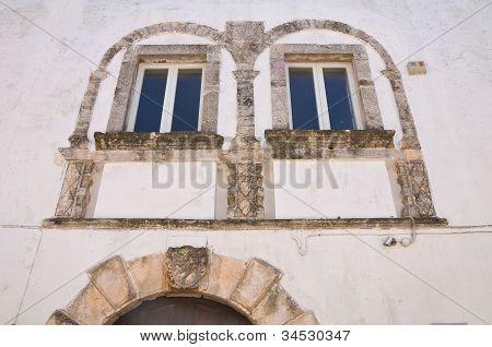 Seminary palace. Ostuni. Puglia. Italy.