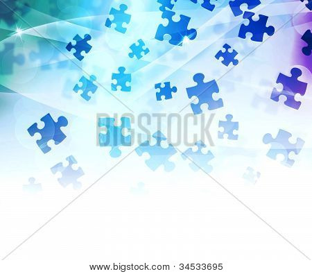Fundo do Puzzle abstrato azul