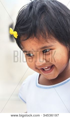Photo Of Beautiful And Blissful Indian Baby Girl With Expressive Eyes And Photogenic Face Expressing