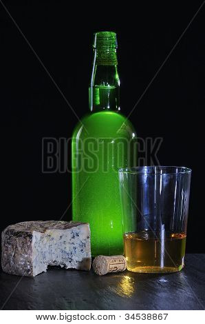 Asturian Cider And Cabrales Cheese.