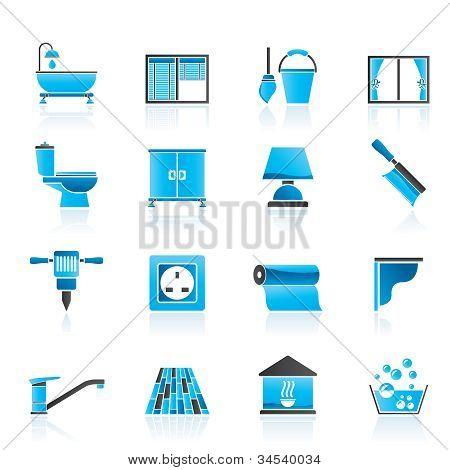 Bau und Ausrüstung Symbole erstellen