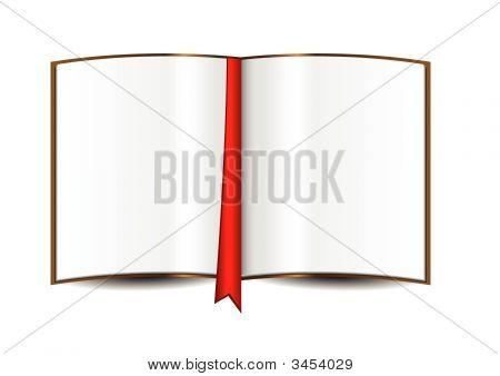 Aberto livro branco