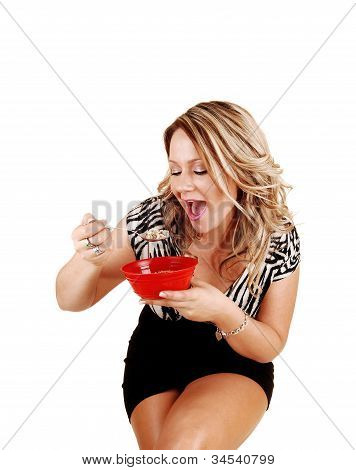 Woman Eating.