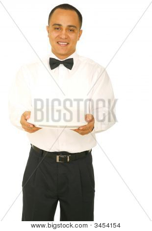 Waiter Holding Food