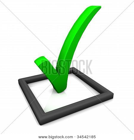 Check List Symbol Green