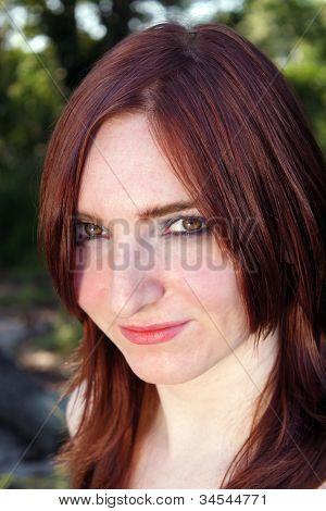 Lovely Redhead Outdoor Headshot (3)