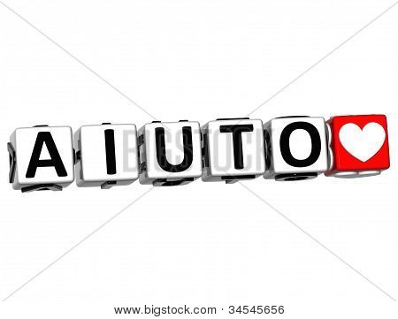 3D Help In Italian Language Button Click Here Block Text