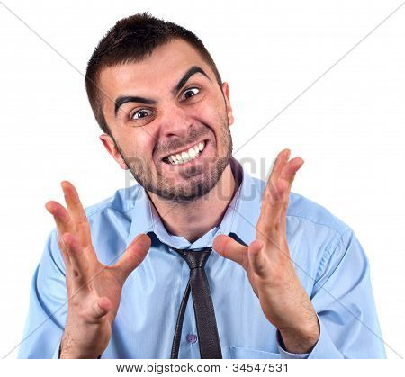 Man Expressing Frustration
