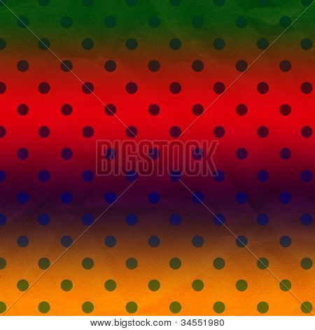Bright Stripes Polka Dot Crumpled Paper