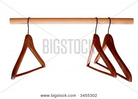 Empty Hangers On Rail