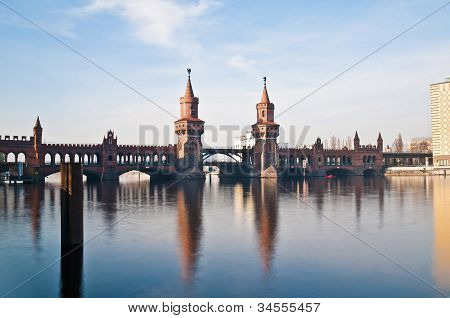 The Oberbaumbrucke Bridge At Berlin, Germany