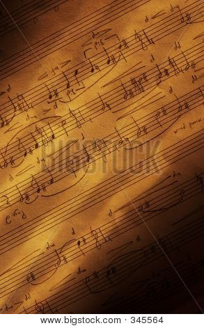 Handwritten Sheet Music Vertical