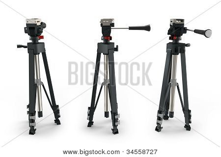 3D Detailed Camera Tripods
