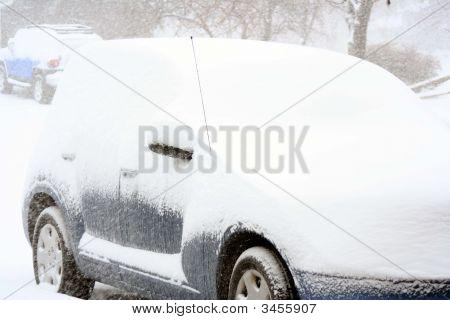 Car Snowed In