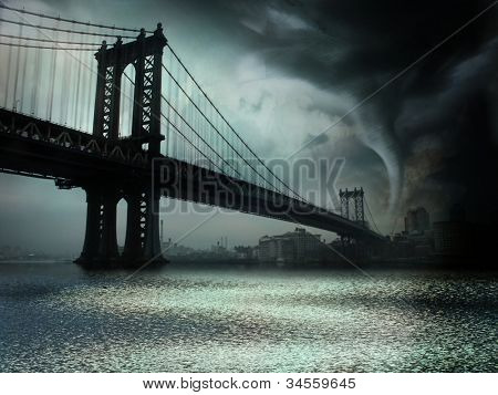 Tornado NYC Illustration