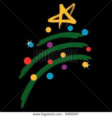 Christmas Tree With Lights Design