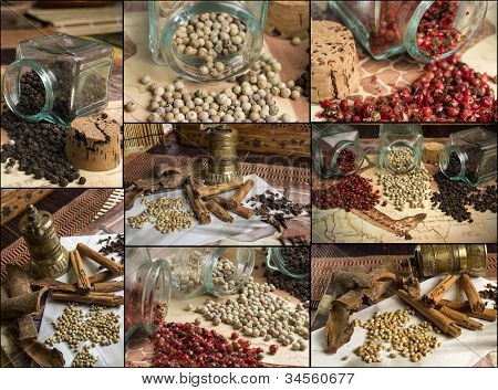Collage of Middle Eastern spices