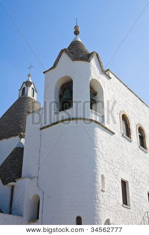 St. Antonio Trullo Church. Alberobello. Puglia. Italy.