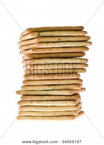 Stack Of Peanut Butter Craker