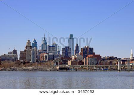 Philadelphia Cityscape At Penn'S Landing