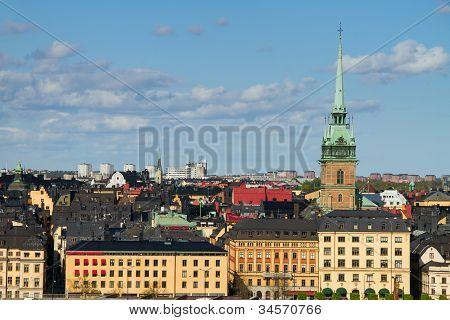 The cityscape of Stockholm
