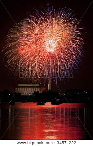 Fireworks Over The Potomac