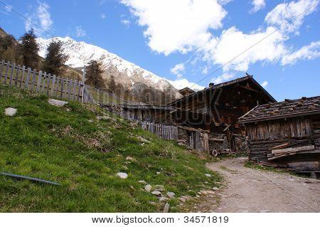 An old alpine hut