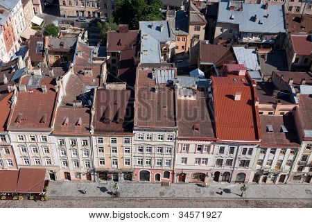 Market Square In A Center Of Lviv City, Ukraine