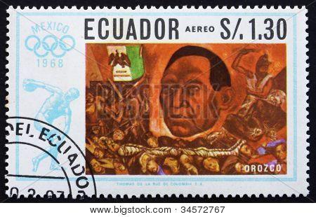 Postage stamp Ecuador 1967 President Juarez by Jose Orozco