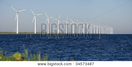 Windmills On A Dutch Dike