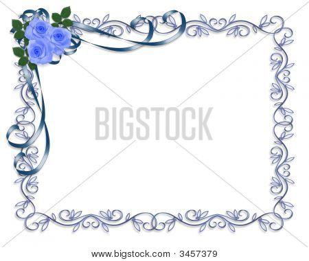 Blue Roses Vintage Einladung frame