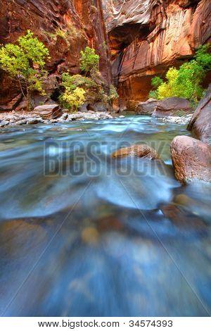 Rapids Of The Virgin River Narrows