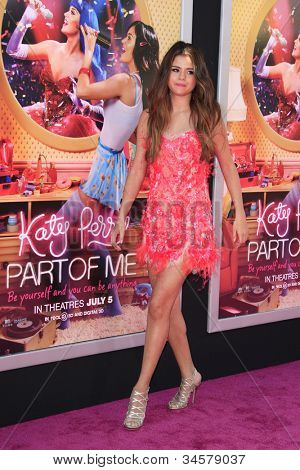 LOS ANGELES - JUN 26: Selena Gomez at the premiere of Paramount Insurge's 'Katy Perry: Part Of Me' held on June 26, 2012 in Hollywood, Los Angeles, California