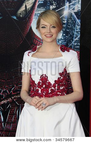 LOS ANGELES - JUN 28: Emma Stone at the premiere of Columbia Pictures' 'The Amazing Spider-Man' at the Regency Village Theater on June 28, 2012 in Los Angeles, California