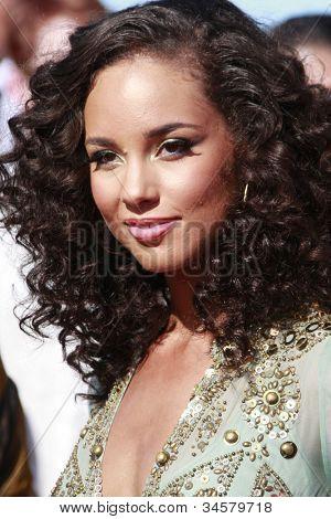 LOS ANGELES - JUN 28: Alicia Keys at the 2009 BET Awards held at the Shrine Auditorium in Los Angeles, California on June 28, 2009