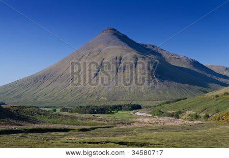 Beinn Dorain Mountain Under A Blue Sky