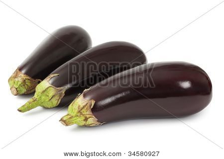 Eggplants Isolated