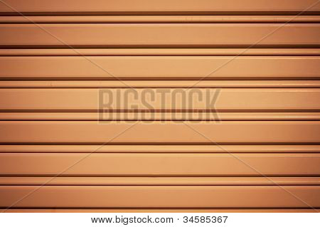 Cool Industrial Metal Orange Door Background