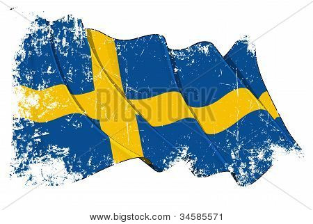 Grunge Flag of Sweden