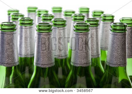 Green Glass Beer Bottles