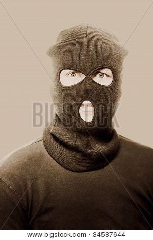 Portrait Of A Vintage Terrorist