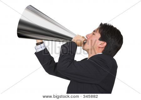 Business Announcement Through Loudspeaker