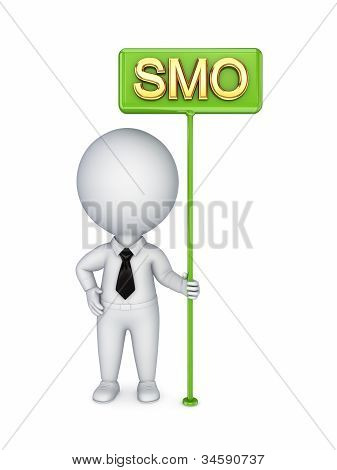 3d small person with a bunner SMO.