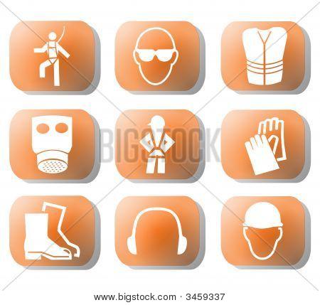 Símbolos de seguridad de la construcción