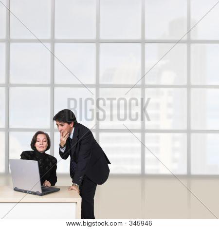 Business Paar im Büro